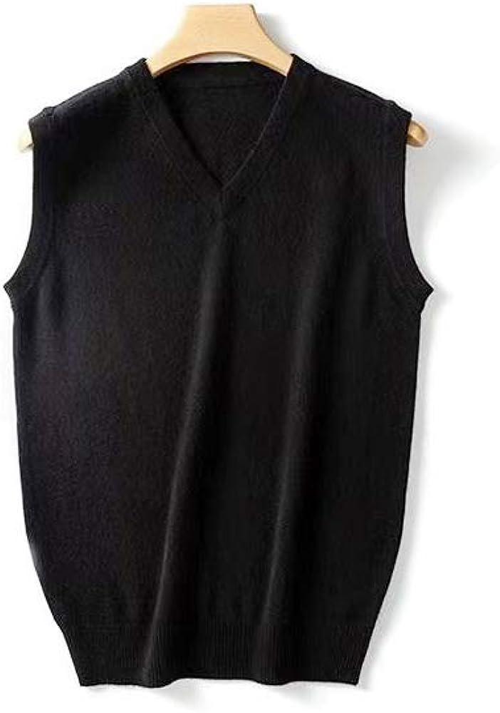 TPBOR Vest Sweater Pullover Men's 100% Pure Cashmere Sweaters for Men's V Neck Pullover New Flower Shape