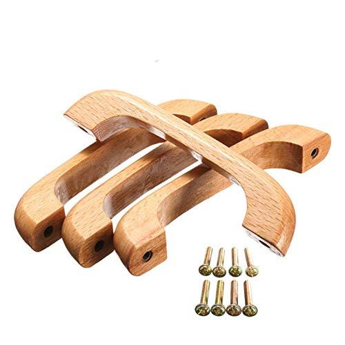 Oulensy 4pcs Tirador Gabinete Perilla Mango para Muebles Puerta del Armario del Cajón Armario Ropero De Madera De 96 Mm Mango En Forma De Arco
