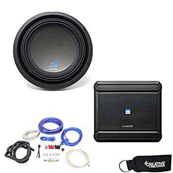 Alpine MRV-M500 Amplifier and a S-W10D4 S-Series 10  Dual 4-Ohm Subwoofer - Includes Wire kit