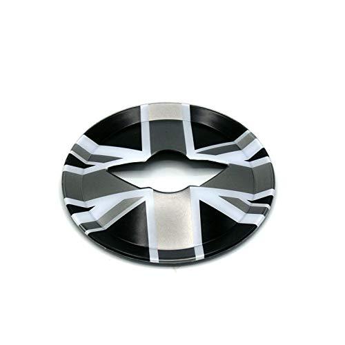 Capuchon de garniture de couvre-volant ABS pour Mini Cooper R Series R55 Clubman R56 Hatchback R57 Convertible R58 Coupe R59 Roadster R60 Countryman R61 Paceman (Union Jack Black)