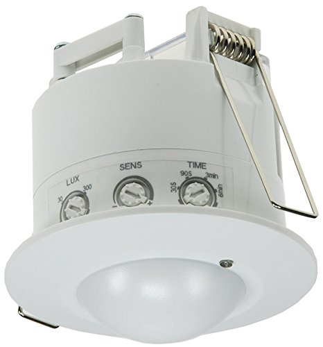 ChiliTec Decken Einbau Bewegungsmelder Unterputz 360° HF Radar 230V sensibel Hochfrequenz Präsenzmelder Einstellbar Weiß