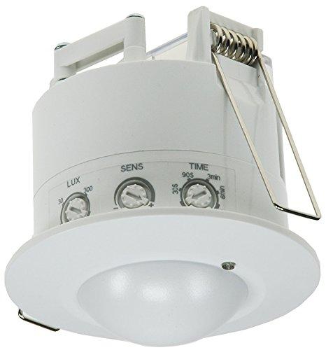 ChiliTec Einbau Bewegungsmelder 360° HF Radar 230V sensibel Hochfrequenz Einstellbar Weiß
