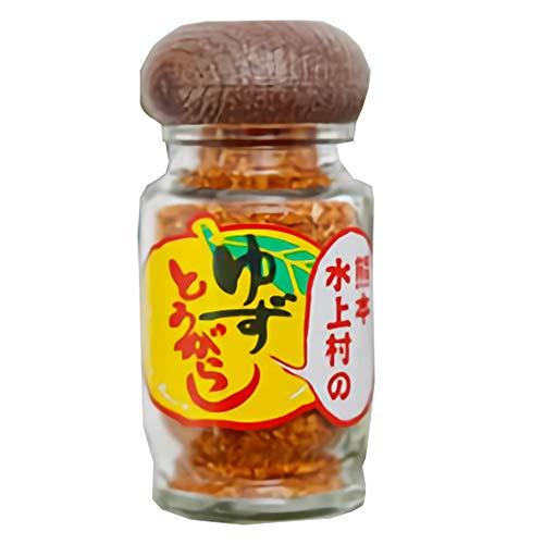 熊本水上村のゆずとうがらし 28g×5個 たけうち 厳選した柚子の皮を贅沢に使用 薫り高いユズ皮のコクのある唐辛子 一味や七味唐辛子の代わりに