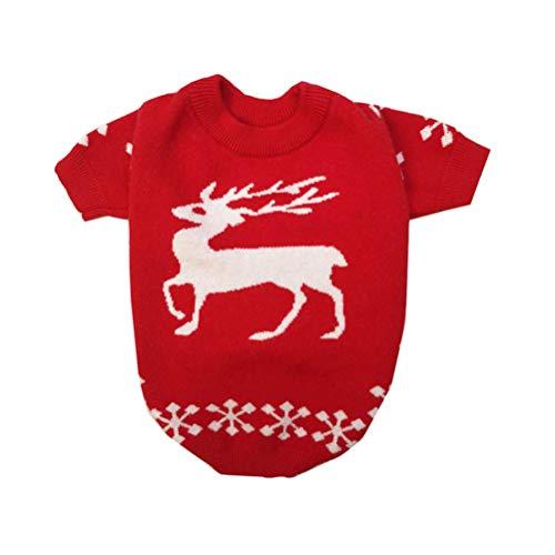 Balacoo Maglione di Cane di Natale Vestiti Caldi di Gatto Cane Cappotto Cappotto di Gatto Animali Domestici