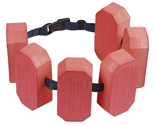 Beco 4011249 Schwimmhilfe Jugend Schwimmgürtel, Rot, 6-Block für 30-60kg Körpergewicht