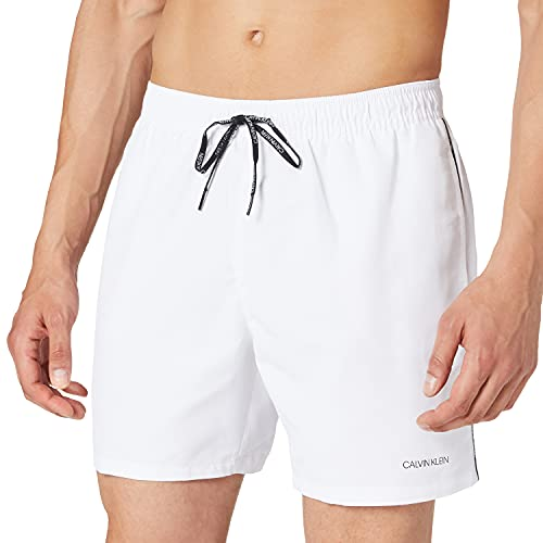 Calvin Klein Medium Drawstring Baador para Hombre, Pvh Clásico Blanco 3, M