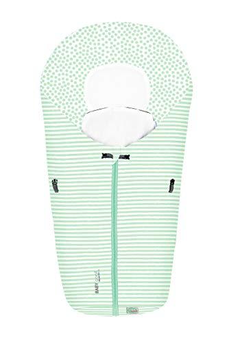 Set Odenwälder BabyNest Fußsack Coolmax & Windel Blaubaer | Sommerfußsack für Babyschale & Babywanne | Fußsack Baby ab Geburt bis 6 Monate | Babyschalenfußsack atmungsaktiv