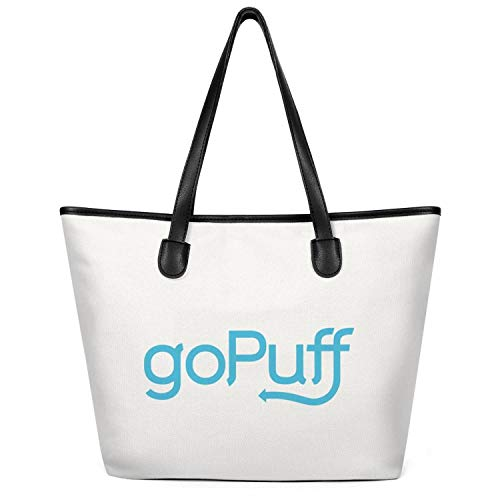 Women's GoPuff- Canvas Foldable Shoulder Craft Shopping Bag Perfect For Shopping,Laptop,School Books