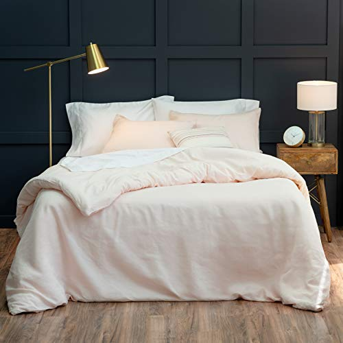Welhome Premium Relaxed Linen Cotton Duvet Cover Set - King Size - 108'x 92' - Supersoft - Superior...