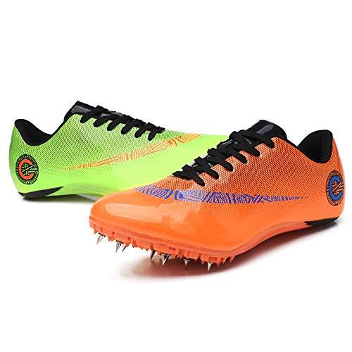 ZRSH Zapatillas de Atletismo Unisex, 8 Clavos de competición de Atletismo al Aire Libre Zapatillas de Clavos Deportivas Profesionales Zapatos con Clavos,007,40EU