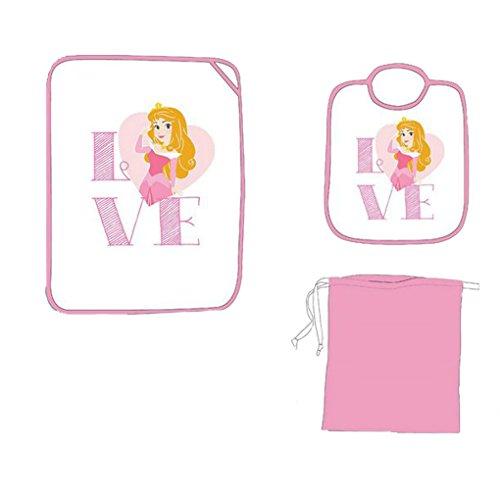 set asilo 3 pezzi bavaglino tovaglietta e sacchetto contenitore DISNEY/AVENGERS (principessa)