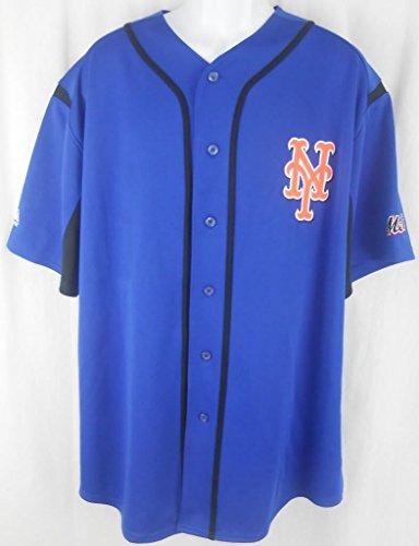 VF New York Mets MLB Majestic Blue Wind Up Jersey (L)
