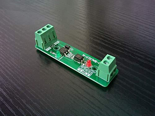 CROSYO Placa de accionamiento del relé de la válvula solenoide de Aislamiento fotoeléctrico de 1 vía (SV-5A1R1P-N) (Color : 12V)