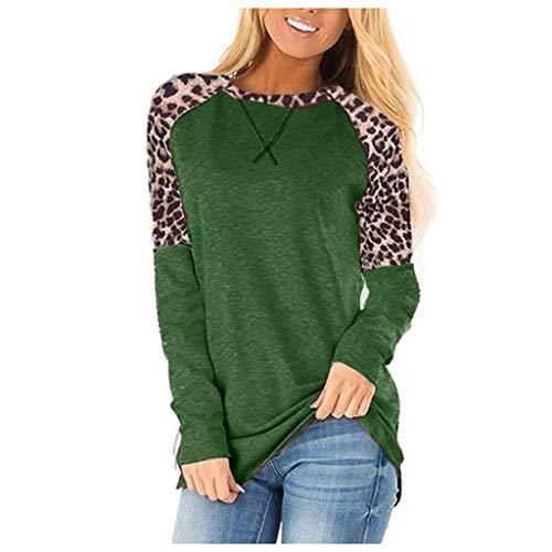 R-Cors Femmes Pullover Novelty Couleur Unie Manches Longues Sweater Dames Grande Taille Tee Shirt Les Loisirs Col en V Chandail en Vrac Automne et Hiver Garder au Chaud Tops(B Vert,S)