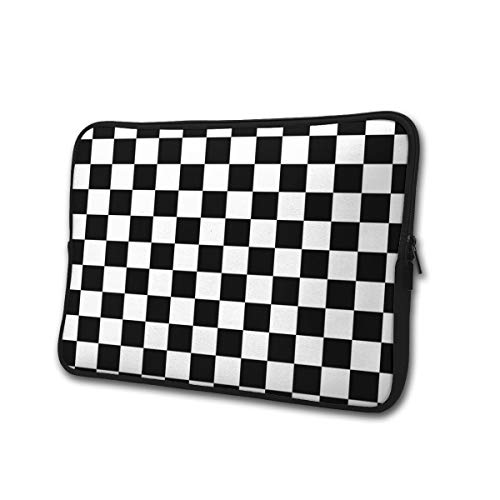 Yongchuang Feng Checkerboard Sleeve Laptop Bag Tablet Case Handbag Notebook Messenger Bag for Ipad Air MacBook Pro Computer Ultrabook 13-15 Inches
