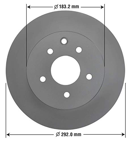 Goodyear Brakes 212334GY, Premium Rear Brake Rotor for Infinitis and Nissans