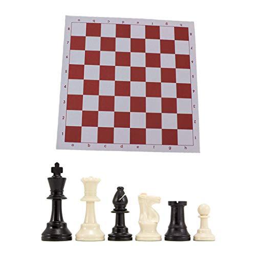 BINGBIAN Juego de ajedrez de ajedrez con triple peso y alfombrilla para ratón, juego de ajedrez internacional