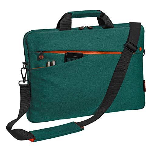 Pedea Laptoptasche Fashion Notebook-Tasche bis 17,3 Zoll (43,9 cm) Umhängetasche mit Schultergurt, türkis