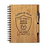 Cuaderno De Notas El Mejor Mozo De Almacen Del Mundo - Libreta De Madera Natural Con Boligrafo Regalo Original Tamaño A5