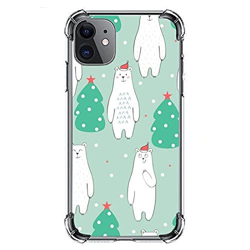 Custodia protettiva antiurto con motivo orso polare per iPhone 11, custodia protettiva in gomma morbida per iPhone 11, 6,1 pollici