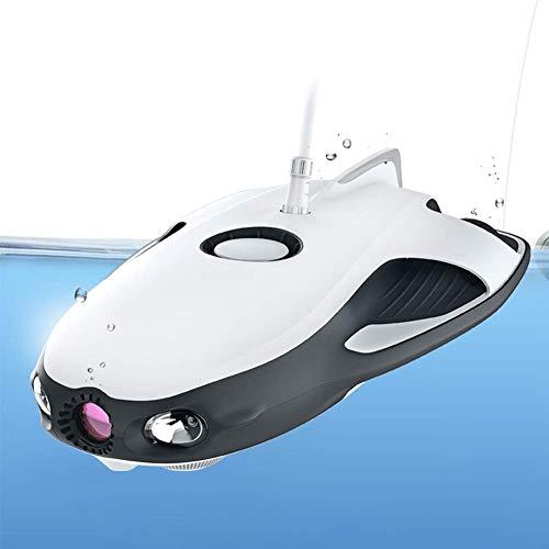 Mnjin Tragbare Unterwassererkennungsdrohne, 30 m tief, 4 Stunden, Lange Akkulaufzeit, 4K-Objektiv, 32G-Speicher, Tauchroboter, geeignet für Tourismus Tauchen Angeln Unterwasserarchäologie