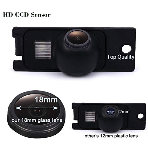 HDMEU Caméra de recul de Voiture HD Couleur CCD étanche pour Volvo S60/S80/V70/S40/S40L/V40/V50/S60L/XC60/C70/S80L/XC90