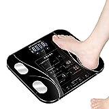 Material de primera, imprescindible para el hogar Escala de pesaje Escala corporal de alta precisión, LCD Peso digital a escala de salud Fitness Pierde escalas de peso, 180 kg / 400lb negro