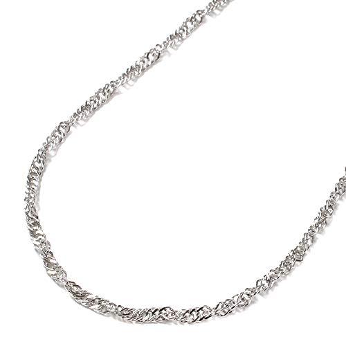 純プラチナ ネックレス Pt999 45cm スクリュー チェーン 男女兼用