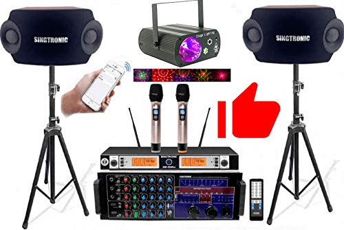 SINGTRONIC COMPLETE PROFESSIONAL 3000W DIGITAL KARAOKE SYSTEM W/HDMI, BLUETOOTH, USB RECORDING FREE UNLIMITED YOUTUBE SONGS