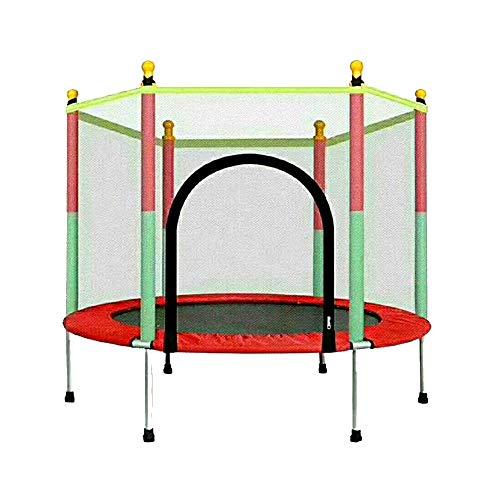 Caixia Trampolin, Kindertrampolin - Mit Leitplanke Home Indoor- und Outdoor-Sprungbett - Sicherheitsnetz - Babytrampolin