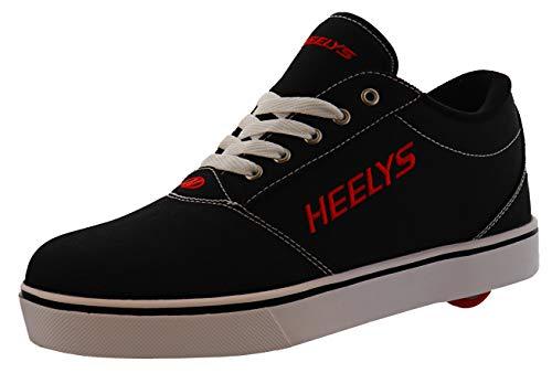 HEELYS Pro 20 (Little Kid/Big Kid/Adult) Black/White/Red 6 Big Kid, 6 Men