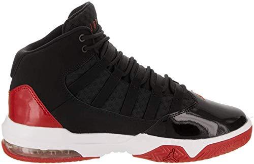 Nike Jungen Jordan Max Aura Sneakers, Mehrfarbig (Black/Black/Gym Red/White 6), 38 EU