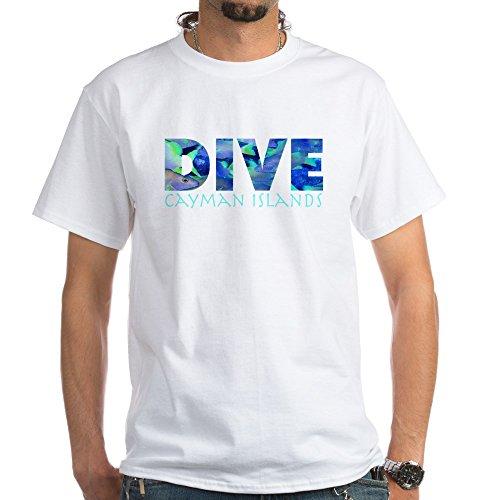 CafePress Dive Cayman Islands White T-Shirt 100% Cotton T-Shirt, White