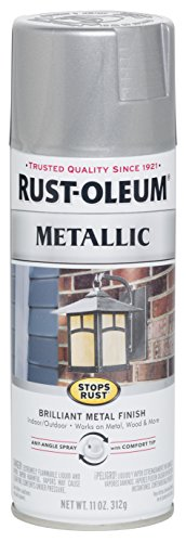 Rust-Oleum 7271830 Stops Rust Metallic Spray Paint, 11 oz, Silver