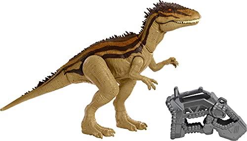 Jurassic World Mega Destructores Carcharodontosaurus Dinosaurio articulado con ataques, Figura de Juguete para niños (Mattel HBX39)
