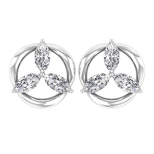 Rosec Jewels 14 quilates oro blanco marquise-shape H-I Diamond
