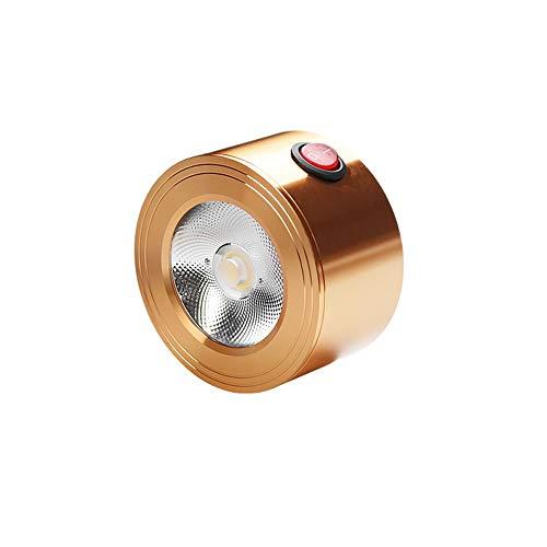Hermoso Mini luz de downlight montada en superficie, lámpara de pared duradera portátil con batería con interruptor, sin cableado Pantalla práctica del gabinete de la iluminación de la lámpara de tech