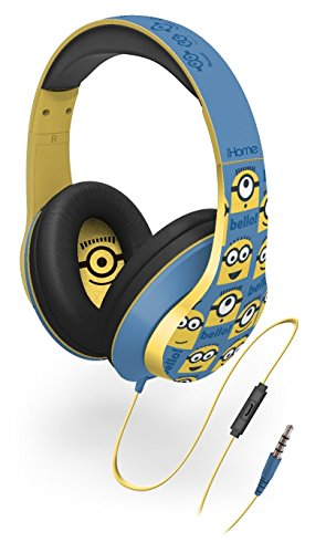 Minions from Despicable Me Over The Ear Headphones with Built In Microphone from the makers of iHome