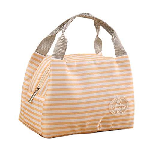 99native Lunch Tasche, Kühltasche Lunch Bag, Thermotasche Isoliertasche, Picknicktasche Mittagessen Tasche, Wasserdicht für Arbeit, Schule, Ausflug Lebensmitteltransport (Orange)