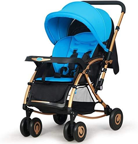 BESTPRVA Cochecito de bebé recién Nacido Infantil del Carro del Cochecito de bebé Puede Sentarse Fold Empuje del Caballo de oscilación Ultra-Ligero bi-direccional de Cuatro Ruedas BB Carro de