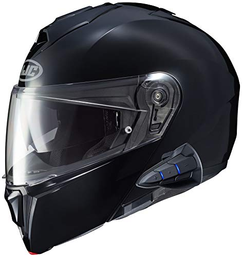 HJC i90 Modular Motorcycle Helmet With Sena 10B Bluetooth Headset Black 4X-Large