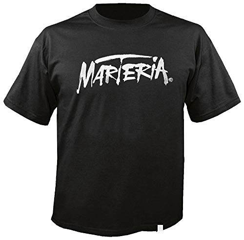 MARTERIA - White Logo - T-Shirt Größe XL