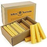 CREASHINE 24pcs Yellow Beeswax Bars, Candle Making Wax, 1oz Bees Wax Bars Cosmetic Grade