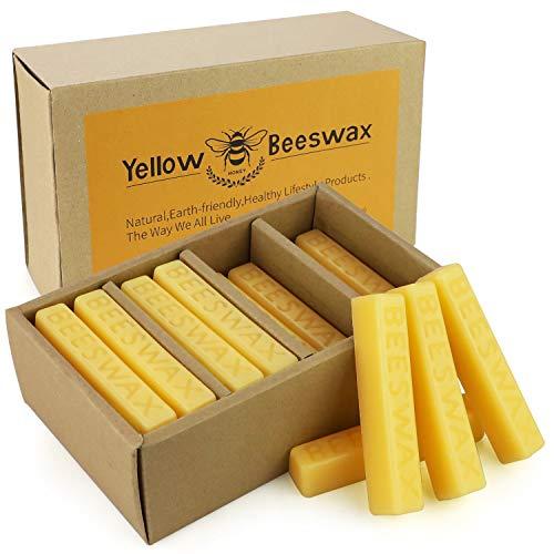 24pcs Yellow Beeswax Bars Candle Making Wax 1oz Bees Wax Bars Cosmetic Grade