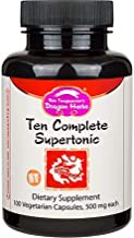 Dragon Herbs Ten Complete Supertonic - Dietary Supplement - 500 mg -100 Vegetarian Capsules
