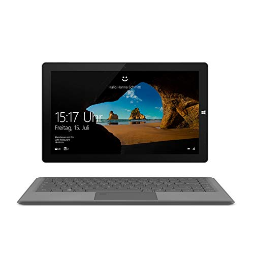 TREKSTOR PRIMETAB T13B, 33,8 cm (13,3 Zoll) 2-in-1-Tablet, Intel Pentium N4200, 64GB - mit M.2 SSD erweiterbar, 4GB RAM, Win 10 Home, Office 365, Beleuchtetes Keyboard, Fingerprintsensor grau