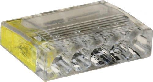 ViD® 2073-205 Verbindungsklemme/Steckklemme gelb 5 x 0,5-2,5 mm² - 100 Stück Dose