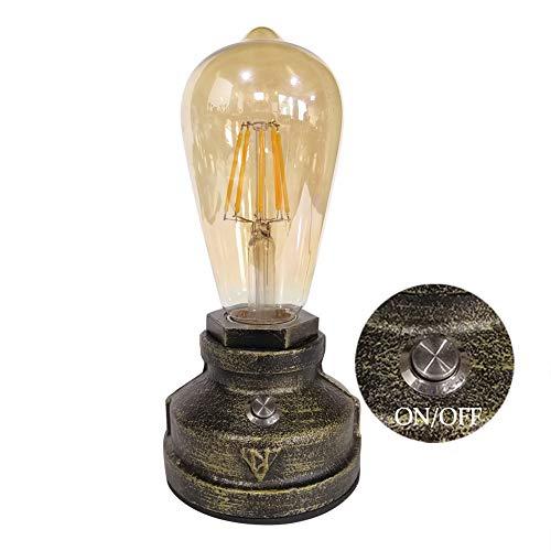 Hierro Base Lámpara Escritorio para Estudio de Luz Nocturna de la Cabecera