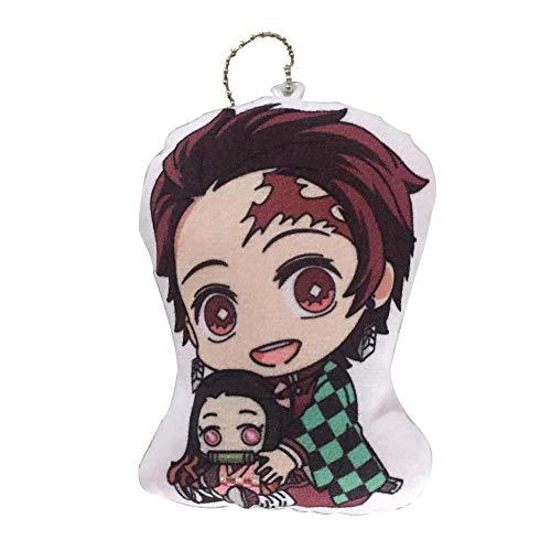 Yangchangjian1606 Demon Slayer - Llavero Tanjirou Nezuko Zenitsu Inosuke Keyring, para bolsa de smartphone Charm Jewelry, estilo 6 (H26)