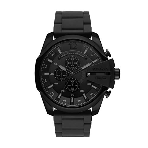 Diesel Herren Analog Quarz Uhr mit Edelstahl Armband DZ4486